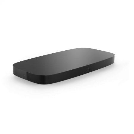 Barra de sonido sonos beam, compatible con airplay 2 y homekit. Este formáto está pensado para instalar debajo del pie de tu televisor.