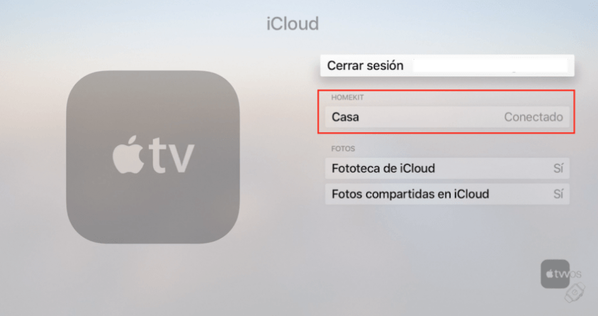Proceso de como añadir un apple tv a app casa apple homekit