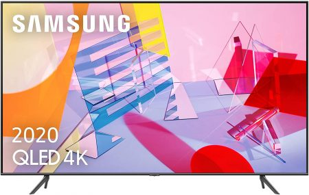 Tv Samsung QLED 4K 2020 compatible con Airplay 2 y apple tv. Smart TV de con Resolución 4K UHD,y posee Inteligencia Artificial.