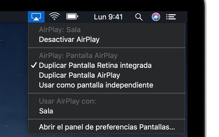 Duplicar pantalla mac en tu smart tv a través de airplay