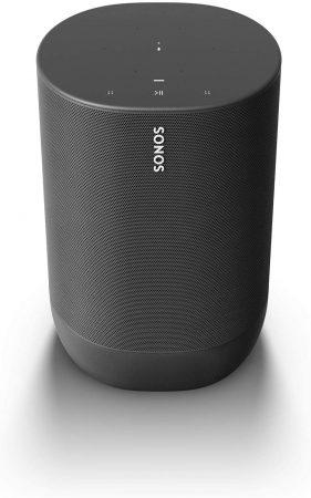 Sonos Move - Altavoz Inteligente compatible con Airplay 2, portátil y Resistente, con batería integrada, para Escuchar música Dentro y Fuera de casa, Color Negro
