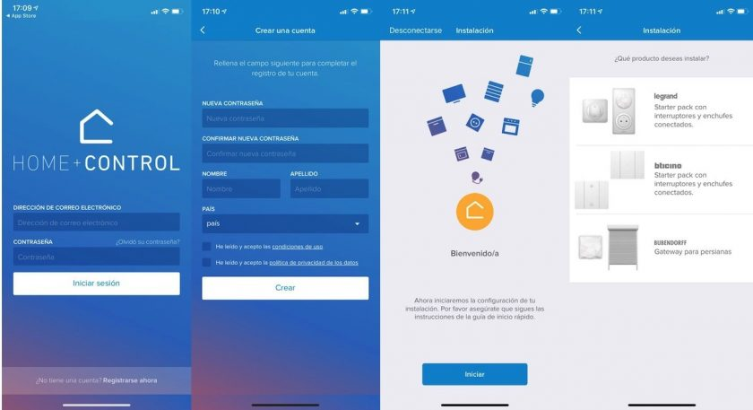 App Home + control, para configurar mecanismos bitcino living now