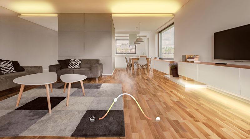 iluminación adaptativa Homekit
