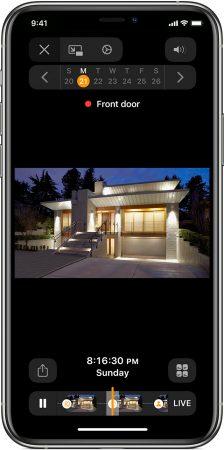 Como ver los videos en directo y las grabaciones en  Apple Homekit
