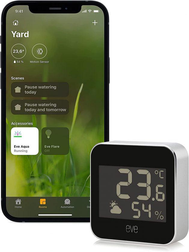 Eve Degree - Sensor de temperatura y humedad  Apple Homekit con compatibilidad con el protocolo de comunicación Thread