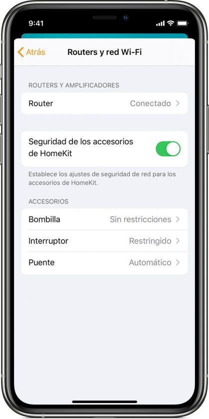Como personalizar tu nivel de seguridad en tu router Apple Homekit