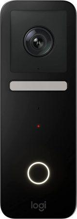 Logitech view doorbell es un timbre de vídeo compatible con Apple HomeKit con vídeo HD Logitech TrueView de cabeza a pie, reconocimiento facial, visión nocturna a color, audio de 2 vías y mucho más.